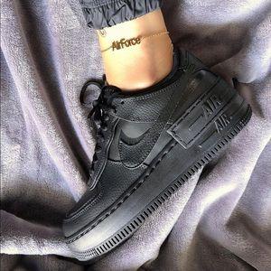 NIKE Air Force 1 Shadow Sneakers Shoes Black